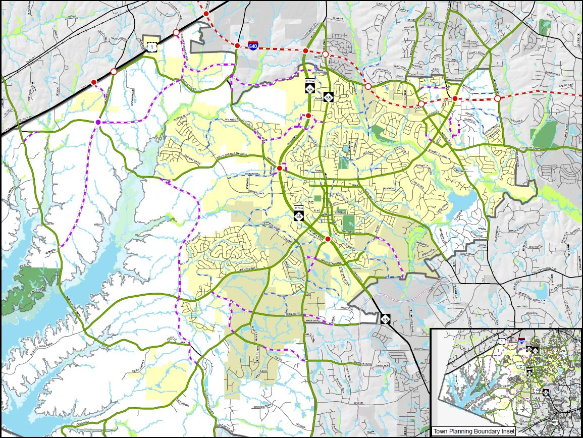 Comprehensive Transportation Plan map