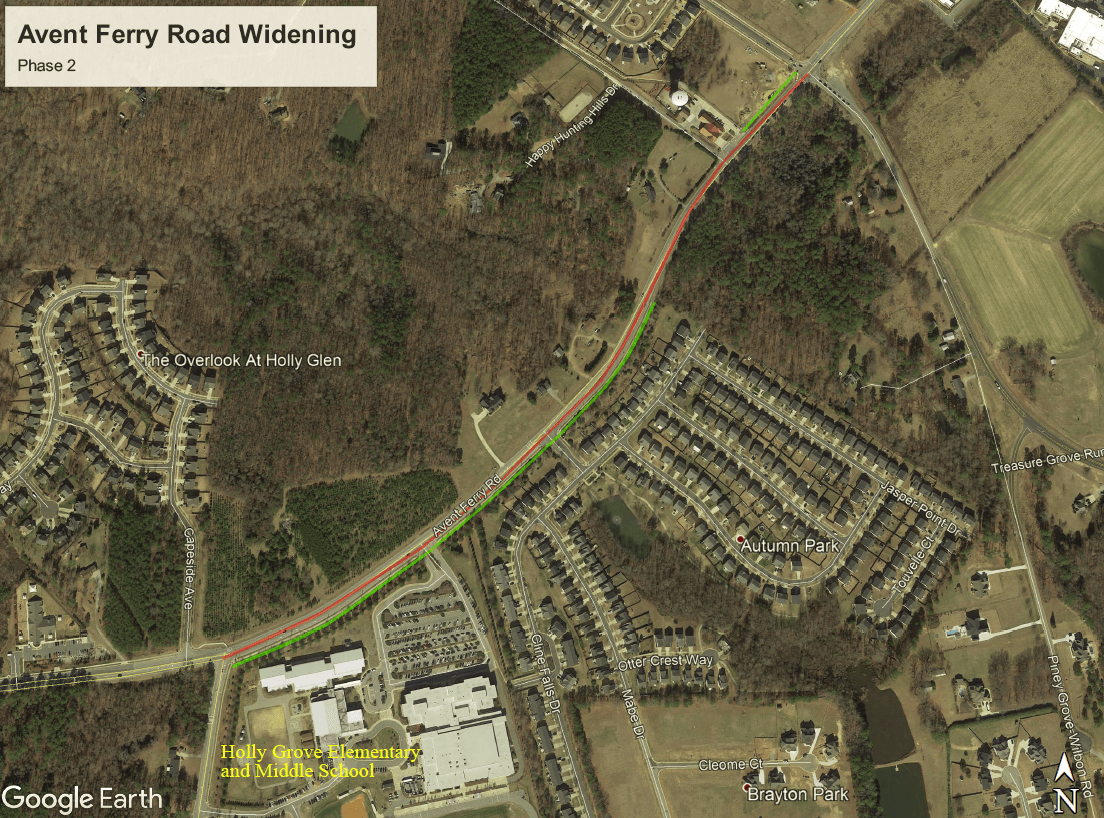 Avent Ferry Road Widening Phase 2