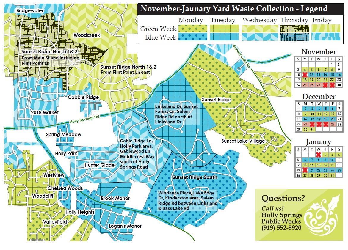 Sunset Ridge Closeup Yard Waster Map