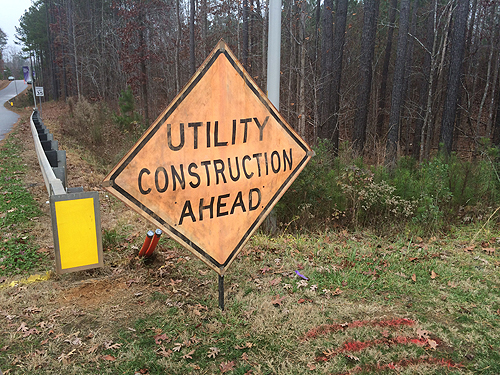 Utility Construction Ahead